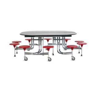 BioFit 10-Seat Oval Folding Lunchroom Table